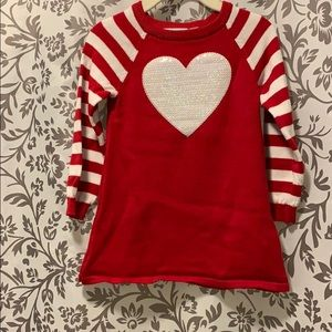 The Children's Place Heart Sweater Dress